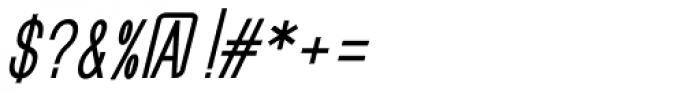 GL Benicassim Sans Bold Oblique Font OTHER CHARS