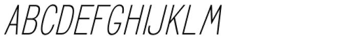 GL Benicassim Sans Oblique Font LOWERCASE