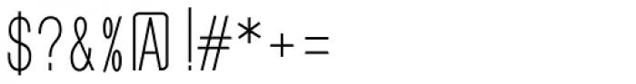 GL Benicassim Sans Font OTHER CHARS