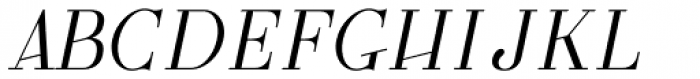 GL Parla M Italic Font UPPERCASE