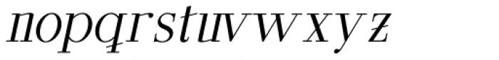 GL Parla M Italic Font LOWERCASE