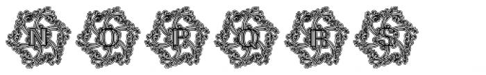 Glaciana Decorative Lined Font UPPERCASE
