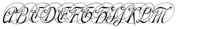 Gladly Ornate Narrow Oblique Font UPPERCASE