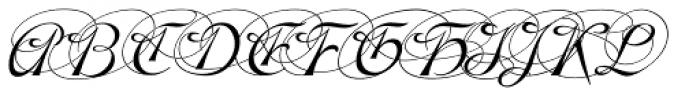 Gladly Ornate Oblique Font UPPERCASE