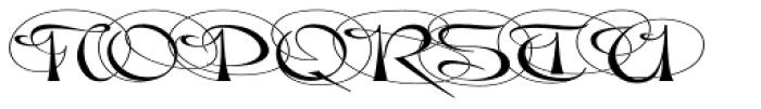Gladly Ornate Wide Font UPPERCASE