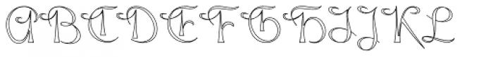 Gladly Wisp Font UPPERCASE