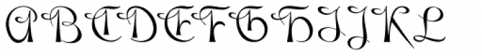 Gladly Font UPPERCASE