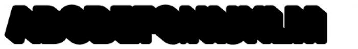Glatt Heavy Shadow Font UPPERCASE