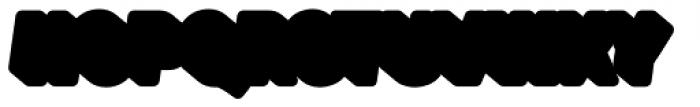 Glatt Italic Heavy Shadow Font UPPERCASE