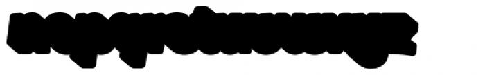 Glatt Italic Heavy Shadow Font LOWERCASE