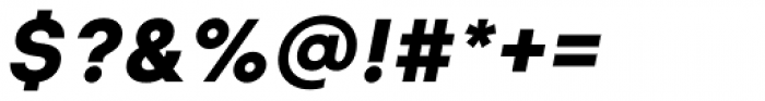 Glence Black Italic Font OTHER CHARS