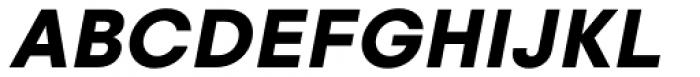 Glence Black Italic Font UPPERCASE