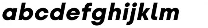Glence Black Italic Font LOWERCASE