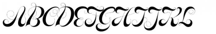 Glenda Swirls Font UPPERCASE