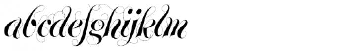 Glenda Swirls Font LOWERCASE