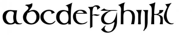 Glendower Font LOWERCASE
