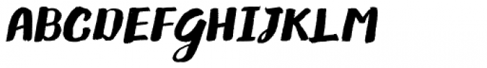 Gliny Brush Italic Font UPPERCASE