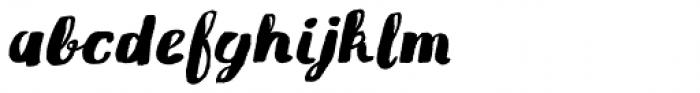 Gliny Brush Italic Font LOWERCASE