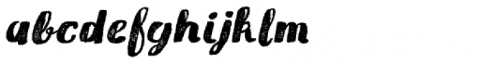 Gliny Brush Press Italic Font LOWERCASE
