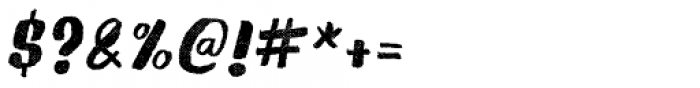 Gliny Brush Rasp Italic Font OTHER CHARS