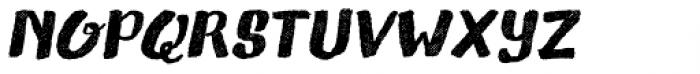 Gliny Brush Rasp Italic Font UPPERCASE