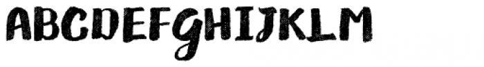Gliny Brush Rasp Font UPPERCASE