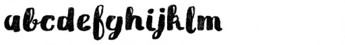 Gliny Brush Rasp Font LOWERCASE