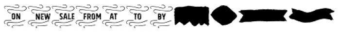 Gliny Extras Font UPPERCASE