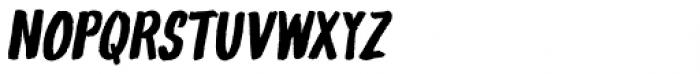 Gliny Hand Dense Italic Font UPPERCASE