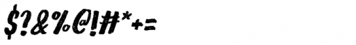 Gliny Hand Dense Press Italic Font OTHER CHARS