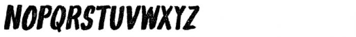 Gliny Hand Dense Press Italic Font UPPERCASE