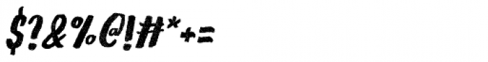 Gliny Hand Dense Rasp Italic Font OTHER CHARS