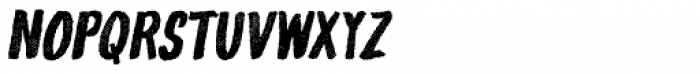 Gliny Hand Dense Rasp Italic Font LOWERCASE
