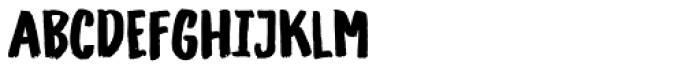Gliny Hand Dense Font UPPERCASE