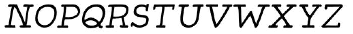 Gliny Hand Slab 100 Italic Font LOWERCASE