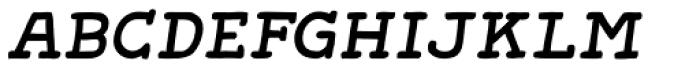 Gliny Hand Slab 200 Italic Font LOWERCASE