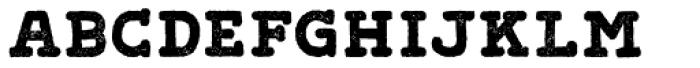 Gliny Hand Slab Press Font LOWERCASE