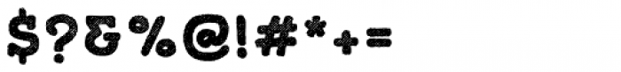 Gliny Hand Slab Rasp Font OTHER CHARS