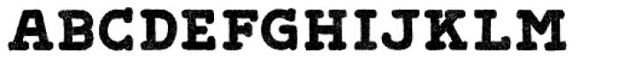 Gliny Hand Slab Rasp Font LOWERCASE