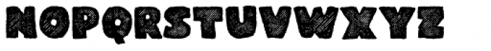 Gliny Heavy Rasp Font LOWERCASE