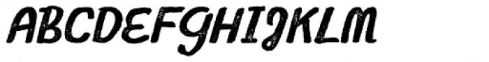 Gliny Script Press Font UPPERCASE