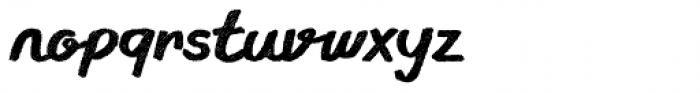Gliny Script Rasp Font LOWERCASE