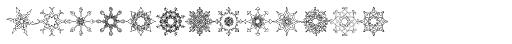 Glitter Outlines Font LOWERCASE