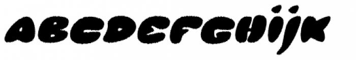 Glob Italic Rough Font LOWERCASE