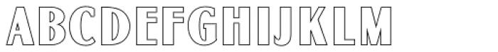Globe Gothic MN Outline Font UPPERCASE