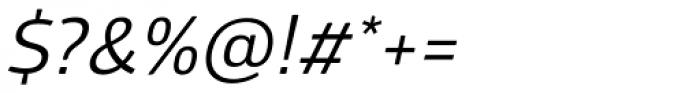 Glober Regular Italic Font OTHER CHARS