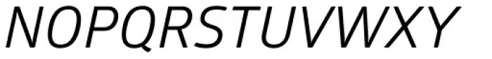 Glober Regular Italic Font UPPERCASE