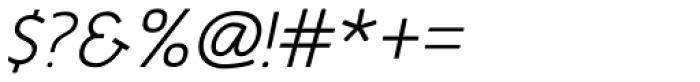 Glory Italic Font OTHER CHARS