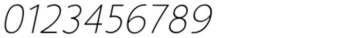 Glory Thin Italic Font OTHER CHARS