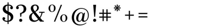 Glosa Medium Font OTHER CHARS